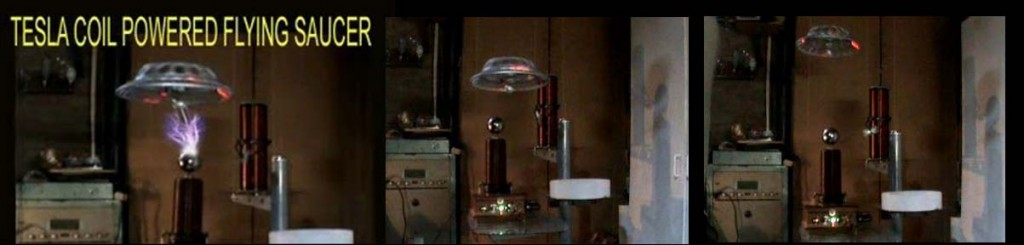 teslacoilpowered saucer